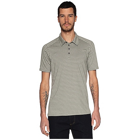Free Shipping. Nau Men's Genus S-S Polo - Stripe DECENT FEATURES of the Nau Men's Genus Short Sleeve Polo - Stripe Four button polo placket Jersey self fabric collar and off-the-shoulder seams for comfort Cover stitched yoke and side seam detail Tailored The SPECS Weight: 5.6 oz Regular fit 100% organic cotton jersey knit with an enzyme finish for a soft, smooth feel - $64.95