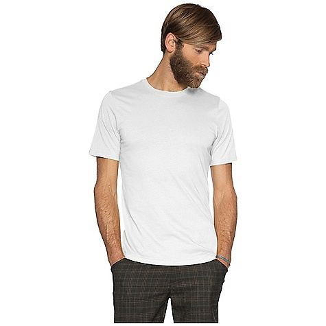 Nau Men's Basis S-S T-Shirt DECENT FEATURES of the Nau Men's Basis Short Sleeve T-Shirt Sculpted self fabric crew neck Bound neck and shoulder seam for durability The SPECS Weight: 4.8 oz Regular fit 100% organic cotton jersey with enzyme finish for a soft, smooth feel - $44.95