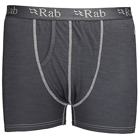 Features of the Rab Men's MeCo 120 Boxer Light-weight Merino Cocona fabric Moisture wicking elastic waistband Fly opening Flat lock low bulk seams Slim Fit - $32.99