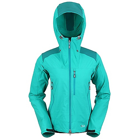 Free Shipping. Rab Women's Scimitar Jacket DECENT FEATURES of the Rab Women's Scimitar Jacket Matrix DWS fabric Helmet compatible hood, wired peak, kitty clip roll down closure YKK 2-way front zip, internal storm flap, chin guard 2 YKK zipped A-line chest pockets 1 YKK zipped Napoleon chest pocket 1 internal YKK zipped security pocket Velcro cuffs, hem drawcord Fit: Slim The SPECS Main Weight: 182g/m2 Main Comp: 90% nylon 66 / 10% spandex Contrast Weight: 275g/m2 Contrast Comp: 46% nylon 66 / 46% polyester / 8% spandex Total Weight: 16 oz / 440 g This product can only be shipped within the United States. Please don't hate us. - $180.00