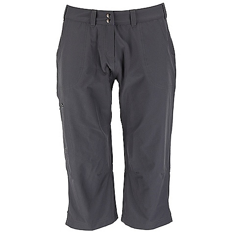 Free Shipping. Rab Women's Helix Capri DECENT FEATURES of the Rab Women's Helix Capri Matrix SWS fabric Double snap waist closure Belt loops YKK zipped fly 2 open hand warmer pockets 1 YKK zipped thigh pocket 2 open rear pockets Fit: regular The SPECS Inside Leg Length: 18 1/2in. / 47 cm Weight: 132g/m2 Comp: 93% nylon / 7% spandex Total Weight: 7 oz / 185 g (estimate) This product can only be shipped within the United States. Please don't hate us. - $70.00