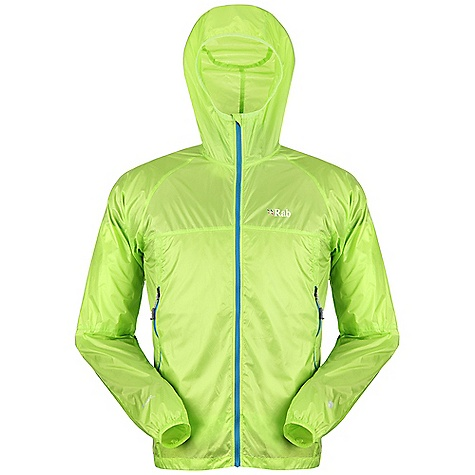 Free Shipping. Rab Men's Cirrus Wind Top DECENT FEATURES of the Rab Men's Cirrus Wind Top Pertex Quantum fabric Under-helmet Lycra edged hood, roll down closure YKK front zip, internal storm flap, chin guard 2 YKK zipped A-line hand warmer pockets Left pocket doubles as integrated stuff sack Elasticated cuffs, hem drawcord Reflective trim Fit: Regular The SPECS Weight: 36g/m2 Comp: 100% nylon 6 Total Weight: 5 oz / 150 g (estimate) This product can only be shipped within the United States. Please don't hate us. - $110.00