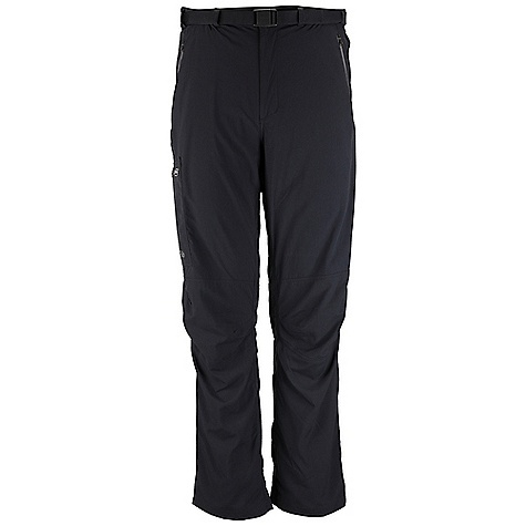Free Shipping. Rab Men's Latitude Pant DECENT FEATURES of the Rab Men's Latitude Pant Matrix SW fabric Snap waistband closure Integrated removable webbing belt, Duraflex push buckle Belt loops 2 YKK zipped hand warmer pockets 1 YKK zipped thigh patch pocket 1 YKK zipped rear pocket Knee articulation Different leg lengths available Fit: Regular The SPECS Main Weight: 133g/m2 Main Comp: 100% nylon Total Weight: 13 oz / 360 g (estimate) This product can only be shipped within the United States. Please don't hate us. - $75.00