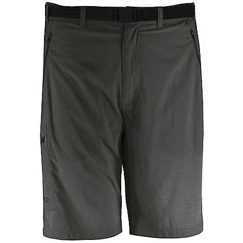 Free Shipping. Rab Men's Latitude Short DECENT FEATURES of the Rab Men's Latitude Short Matrix SW fabric Snap waistband closure Integrated removable webbing belt, Duraflex push buckle Belt loops 2 YKK zipped hand warmer pockets 1 YKK zipped thigh patch pocket 1 YKK zipped rear pocket Inside Leg Length: L: 10in. / 25 cm Fit: Regular The SPECS Main Weight: 133g/m2 Main Comp: 100% nylon Total Weight: 8 oz / 240 g (estimate) This product can only be shipped within the United States. Please don't hate us. - $50.00