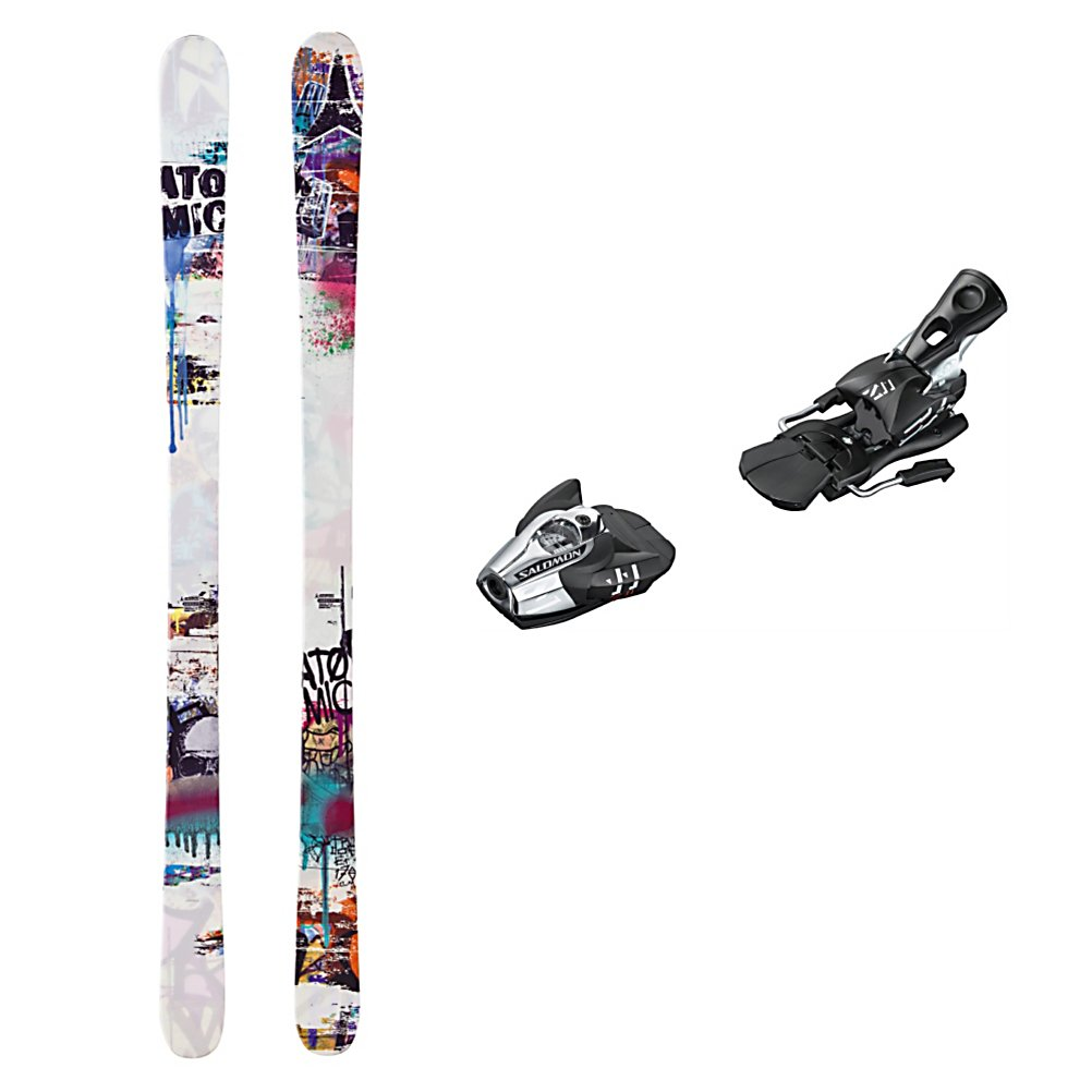 Ski Atomic Trooper Ski Package - A pure park ski with a performance binding, the Atomic Trooper Ski Package is a great first adult ski or twin tip ski for the youngster ready to destroy the park. The Atomic Trooper Skis boast an Active Camber has plenty of spring and pop for boosting on rails or boxes and will give you lots of control on the groomers. The Resist Edge has added durability to take some of the punishment that you plan on dishing out. The Cap Fiber core is very lightweight and forgiving, so you do not need to put a lot of energy or force into the ski to make it respond. The Salomon Z11 Bindings are lightweight and high performance. Salomon's vertical progressive pivot offers a controlled release for backward falls which in turn gives you protection and confidence to heighten your speed and fun. The high lateral transmission gives you more precision and more control over your skis. Whether you want to spend the day in the park or go between the rails and the trails, the Atomic Trooper Ski Package is the one you want in your arsenal. . Tip/Waist/Tail Widths: 122/85/112mm (@ 170cm), Actual Turn Radius @ Specified Length: 18.5m (@ 170cm), Type: Freestyle Skis, Construction Type: Cap, Tail Profile: Twin, Max Din Setting: 4-11, Rocker: Camber, Skis:: Atomic Trooper Skis, Binding Weight Range: 80-250 lbs., Turn Radius: 16-20, Waist Width: 76-85mm, Ski Bindings:: Salomon Z 11 Wide Brake Ski Bindings, Ski Gear Intended Use: Freestyle, Skill Range: Beginner - Advanced Intermediate, Product ID: 314101 - $299.95