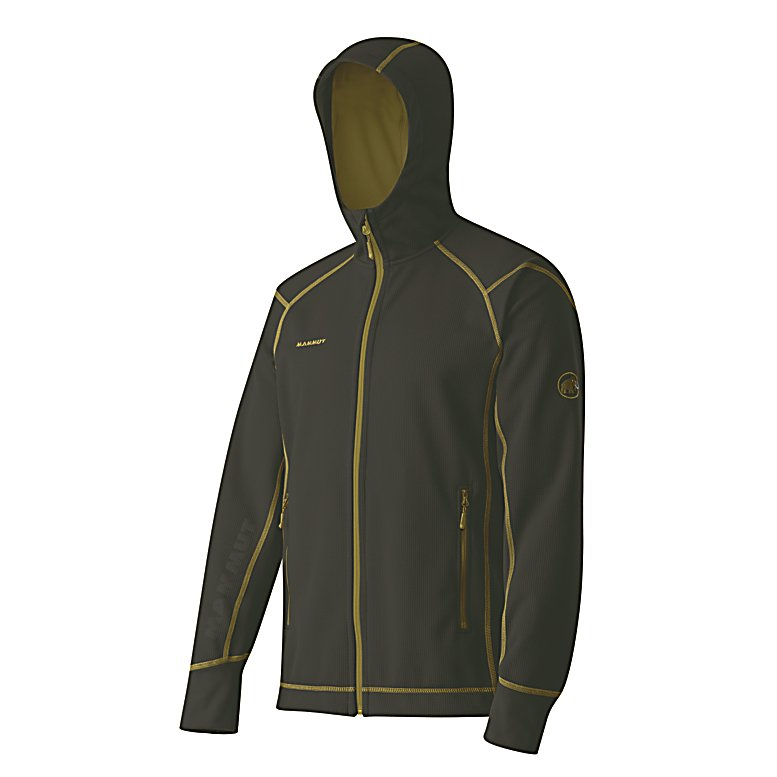 Ski Mammut Kain Hoodie - The Mammut Kain Hoodie is a fine piece of outerwear that will keep you feeling warm and comfortable as the temperatures start to cool. Designed with a Pontetorto Tecnopile Double Fabric, you'll have a high quality and elastic material that will keep your mobility going without hindering your movement. It's wind-repellent so those breezes won't chill you to your core and its soft material is cozy to the touch. This Mammut Kain Jacket is a great go-to piece on those cool fall days when you're heading out or as a midlayer one the frigid winter days when you're planning on hitting the slopes for some skiing. . Bearing Grade: Recreational, Model Year: 2013, Product ID: 313553, Model Number: 1010-09810 0001 S, GTIN: 7613186737221, Water Resistant: No, Sleeve Type: Long Sleeve, Wicking Properties: No, Material: Synthetic, Type: Hoodies, Wind Protection: Yes, Closure Type: Full Zip Top, Battery Heated: No, Warranty: Other, Material: 95% Polyester, 5% Polyurethane - $99.91