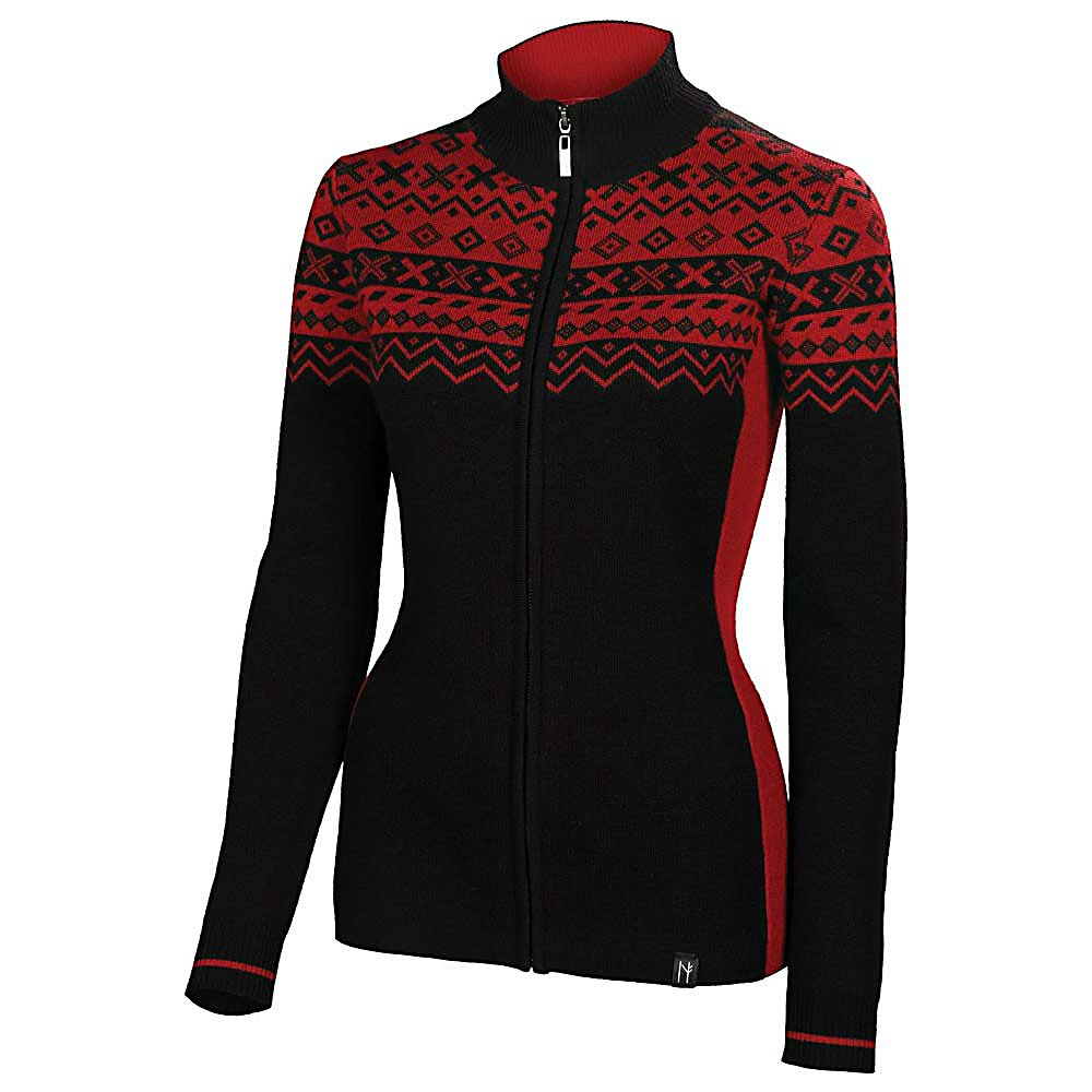 Ski Neve Designs Josephine Full Zip Womens Sweater - The Neve Designs Josephine Full Zip Womens Sweater is in a collection of contemporary styling bringing to you contrasting colors on the back and front as they are brought together by a lively Nordic patterning on the front yoke and shoulders. The Josephine Sweater is about fashion, play, modern and classic beauty, as you embrace yourself with a bold and strong statement of style. Take Josephine to the slopes as a warm layer and lounge in the lodge with comfort and warmth. The Neve Josephine Sweater flatters your silhouette as it creates a contemporary look and a true art form. . Material: Ultra-Fine Merino Wool, Warranty: Other, Battery Heated: No, Closure Type: Full Zip Top, Wind Protection: No, Type: Sweaters, Material: Wool, Wicking Properties: Yes, Sleeve Type: Long Sleeve, Water Resistant: No, Model Year: 2013, Product ID: 313220, Model Number: 2027-001-XS, GTIN: 0847608023785 - $99.95