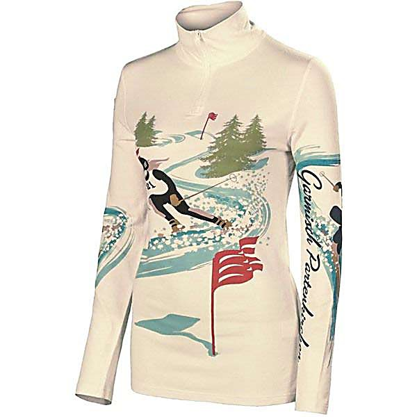 Ski Neve Designs Ski Racer Zip Neck Womens Long Underwear Top - The Neve Designs Ski Racer Zip Neck Baselayer offers an original vintage design that is constructed from state-of-the-art Silk and Merino Wool blend. It's crafted for impeccable fit and ultimate warmth and softness. Each vintage garment is hand printed in limited quantities, making each one a work of art. The Ski Racer Zip Neck is equally at home under your ski sweater or worn alone as a proud symbol of your active alpine lifestyle. . Fit: Tight, Warranty: Other, Material: Wool, Weight: Mid, Type: Top, Model Year: 2013, Product ID: 313212, Model Number: 2069-XS, GTIN: 0847608028094 - $89.95