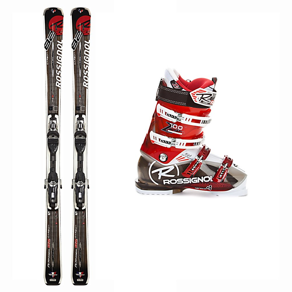 Ski Rossignol Avenger 82 Basalt Ski Package - The Rossignol Avenger 82 Basalt Ski Package is great for that aggressive frontside skier who loves the hard pack snow but won't turn away from heading off trail when the urge strikes. The Rossignol Avenger 82 Basalt Skis gives you plenty of waist width for blasting through the crud that can accumulate on the hard pack, some float for light powder, without being too slow edge to edge. The oversize sidecut make this ski a dream for rocketing down groomers both quick, tight turns, and longer more giant slalom turns. Full sidewalls give the 82 Basalt enough edge grip to hold a solid edge on the ice without being to demanding or too much work for an intermediate. With the Rossignol Zenith Sensor3 100 Ski Boots you can expect power and comfort. Using Sensor3 Technology, you'll have direct contact to help produce incredible power as well as extraordinary control and feel making it so you can truly drive your skis. The Sensor Fit Liner eliminates pressure points from across the top of the toes by having an instep pocket. Even the bottom of the boots offer excellent traction through grippy rubber so you can walk into the lodge for hot chocolate. Make sure to take along the Rossignol Avenger 82 Basalt Ski Package so that you have the right ingredients to perform at your very best. . Special Features: Ti Basalt Laminate, Skill Range: Advanced Intermediate - Expert, Product ID: 314068, Ski Gear Intended Use: All Mountain, Ski Boots:: Rossignol Zenith Sensor 3 100 Ski Boots, Ski Bindings: - $799.95