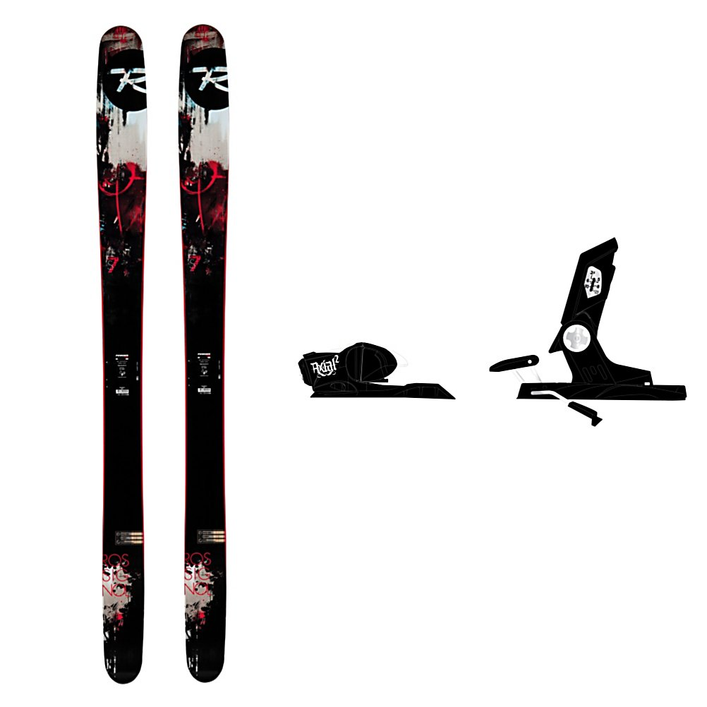 Ski Rossignol S7 Ski Package - The Rossignol S7 Ski Package combines one of the most popular skis with a solid and powerful bindings. The Rossignol S7 Skis are very versatile and are made with a waist at 115mm so you can float easier in the deep powder. The Powder Turn Rocker has 50% high rocker in the tip and tail to make the ski float on top of powder, initiate turns on the hard pack and absorb negative vibrations that are caused by moguls and crud. The 50% low camber underfoot gives the S7 Skis power, energy, and edge grip in variable snow and groomers. The rocker in the pin tail makes the ski easier to control in the deep snow by smearing turns to dump speed. For bindings you'll have the Rossignol Freeski2 120 XXL which was made for the fat skis. The Dual Action toe piece is reinforced in the high stress areas, which improves the overall structural integrity of the binding. The wide pattern is a must for wider skis increasing the torsional interface and creating a stronger coupling between ski and binding. You'll also have more leverage and control over the edges. You can take it anywhere but you'll love it most when you're gliding through the powder, the Rossignol S7 Ski Package is the one ski you should have in your arsenal when heading to the mountain. . Skill Range: Advanced - Pro, Product ID: 314115, Ski Gear Intended Use: Side Country/ Backcountry, Ski Bindings:: Rossignol Freeski2 120 XXL Bindings, Waist Width: 106-115mm, Turn Radius: 16-20, Skis:: Rossignol S7 Skis, Rocker: Rocker/Camber/Rocker - $549.95
