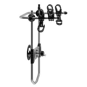 Entertainment Thule Spare Me 2 Bike Rack - The Thule Spare Me 2 Bike Rack is a great way to help transport your bikes from your garage to any destination. This heavy duty bike rack has a Stay-Put Cradle with detachable anti-sway cages to prevent your two bikes from contacting one another and damaging them; it also blocks the bikes from doing any scratching on your car. The Integrated Locking Cable and Locking Knob helps secure the bikes to the rack so you can transport from A to B without any worries. When not in use, the arms fold down so you don't have to worry about them as you're driving along. Simple and easy-to-use, the Thule Spare Me 2 Bike Rack will provide you with stability, reliability and security whether you're driving long distances or just to your favorite bike path nearby. . Product ID: 313650, Shipping Restriction: This item is not available for shipment outside of the United States. - $199.95