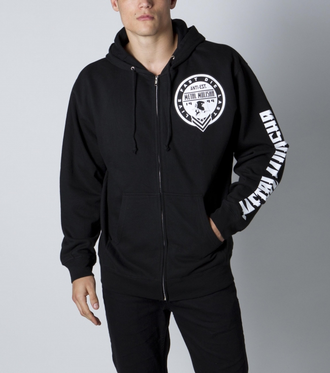 Motorsports Metal Mulisha Mens zip hoodie. 80% Cotton / 20% Poly. Front and sleeve screenprint. - $30.99