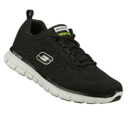 Fitness Turn on the juice with the SKECHERS Synergy - Power Switch shoe.  Super lightweight Skech-Knit Mesh fabric and synthetic upper in a lace up athletic  training sneaker with stitching accents and Memory Foam insole. - $60.00