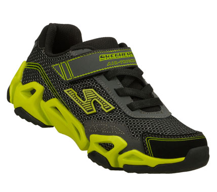Fitness Catch some serious air wearing the SKECHERS Air-Mazing Kid : Fierce Flex shoe. Smooth leather; synthetic and mesh fabric upper in a slip on sporty training sneaker with stitching and overlay accents. - $45.00