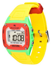 Key Features of the Freestyle Shark Classic Watch: 38mm Polycarbonate Case Polycarbonate Lens Durable Polyurethane Strap Day/Time/Date Dual Time 2 Alarms Chronograph Countdown Heat Timer Night Vision Backlight Hydropushers 100 Meters H20 Resistance - $38.95