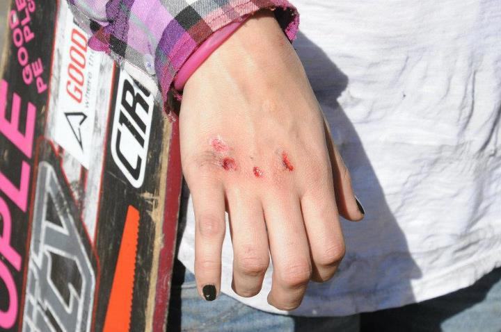 Skateboard LIKE this pic if perfect nails doesnt make the woman
