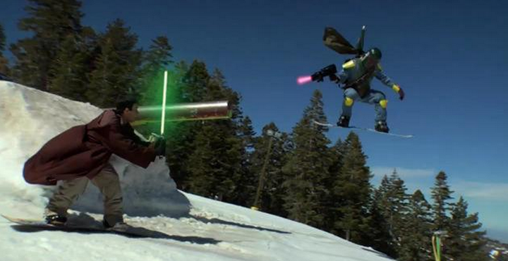 Snowboard Gnar Wars - an oldie but a goodie. 