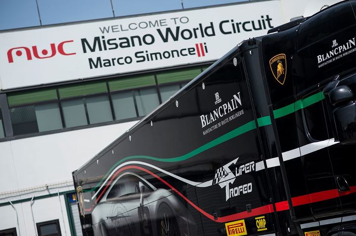 Motorsports The Lamborghini Blancpain Super Trofeo inaugural night race at Misano