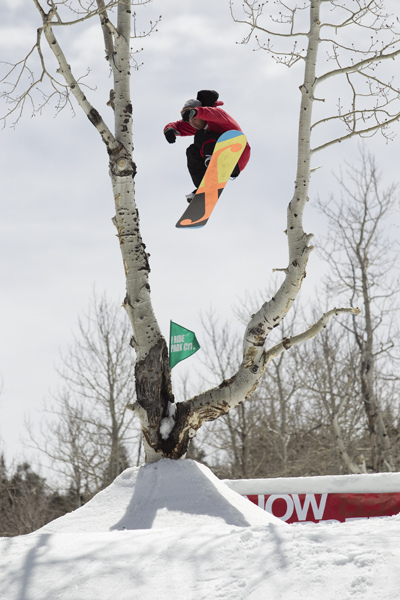 Snowboard Luka Jeromel at Park City Mountain Resort