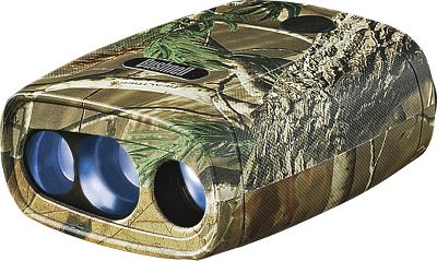 Hunting Even though it's the lowest-priced rangefinder on the market, it still has features like a weather-resistant design and textured surface for sure handling in foul weather. One-button operation gives distance in through-the-lens LCD readout ( 1-yd. accuracy). Uses a 9-volt battery (not included).Color/Camo pattern: Charcoal, Realtree AP . - $129.88