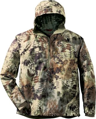 Hunting Dont let drizzle be the end of your next hunt. Krypteks lightweight and easily-packable Poseidon Pullover ensures youve always got the proper gear when the rain starts falling. The 1/2-zip jacket is crafted of polyester with plenty of stretch for freedom of movement. Waterproof zippers, welded seams and sleeve cuffs keep moisture from sneaking in. Lined chin guard eliminates chafes. Imported.Sizes: M-2XL.Camo pattern: Kryptek Highlander. Size Medium. Color Kryptek Highlander. - $149.99