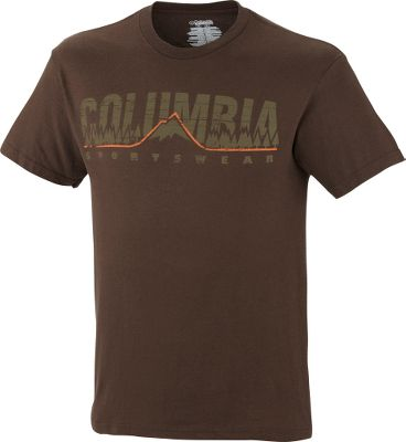 Show your love for nature with the Columbia Outdoor Pride Short-Sleeve Tee Shirt. UPF rating of 15. 100% cotton jersey. Imported.Sizes: S-2XL.Colors: Espresso, Mountain Heather. - $14.88