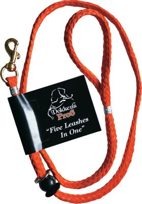 Entertainment Looking for a versatile dog leash that can do it all? Then youll appreciate the freedom that the Dokkens 5-in-1 Pro Leash provides. With a few simple adjustments it can be quickly converted from a basic walking leash to a slip lead for obedience training, a halter-style leash for greater control when walking, a waist halter for high-energy dogs, or just attach it to your waist for hands-free walking. Made of heavy-duty nylon for lasting performance. Imported. Length: 6 ft. - $16.99