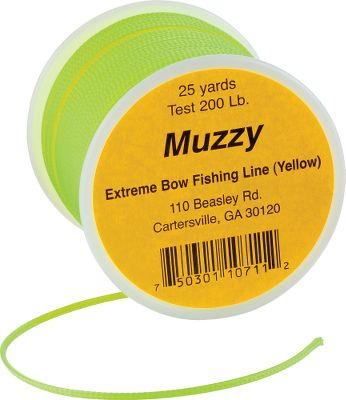 When youre driving arrows into the water, depend on Muzzy Premium Extreme Bowfishing Line to bring your arrow and your fighting game fish back from the depths. Spool contains 75 ft. of 200-lb.-test Dacron polyester, a strong and durable material that been field-proven to handle and pull in the biggest fish. - $14.99