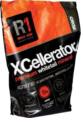 Hunting The Grow phase of the Rack1 Ignite System, Rack1 XCellerator Premium Whitetail Mineral gives whitetails exactly what they need to maximize antler growth while promoting overall herd health. For best results, apply XCellerator as soon as the snow is gone, roughly from April through November. After clearing leaves and brush with a rake, spread entire bag onto the loosened soil of a concealed area 10 to 15 feet off an active trail. Rack1 Ignite System is a year-round nutritional regimen designed to help you grow bigger bucks. It uses four phases Condition, Grow, Scout, Hunt.Weight: 5 lbs. - $10.88