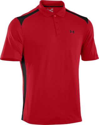 Fitness The Under Armour Performance Colorblock Polo keeps you cool, dry and mobile. It wont wrinkle, snag, hold odor or fade. Smooth anti-pick, anti-pill fabric maximizes comfort and has a cleaner, snag-free finish. Four-way stretch gives greater mobility and maintains shape. Signature Moisture Transport System wicks sweat away from the body, and ArmourBlock antimicrobial technology prevents the growth of odor-causing microbes. A UPF rating of 30+ protects your skin from the suns harmful rays. Rib-knit collar provides durable stretch and a clean, classic look. Tough, dual-color three-button placket. 5.6-oz. 94/6 polyester/elastane. Imported.Sizes: M-3XL.Colors: True Grey Heather, Red. Type: Polos. Size: Large. Color: True Grey Heather. Size Large. Color True Grey Heather. - $42.88
