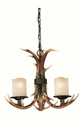 Take an average room and pair it with a chandelier from Vaxcel Lighting and watch the transformation begin. Crme-cognac glass and faux-antler design with a rustic black walnut finish. Requires incandescent bulbs (not included). Color: Walnut. Type: Chandeliers. - $394.40