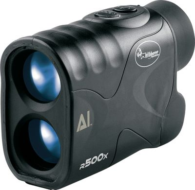 Compact and affordable, its continuous scan mode lets you pan its beam across the landscape and range multiple targets with a single activation. The R500X reaches out to 500 yards on reflective objects and an angle-computing feature. Easy-to-see LCD features an easy-to-see reticle, text and icons for exact range, battery level, ranging mode and unit of measure (yards or meters). The rugged, ergonomic body is water-resistant for lasting in-the-field durability. Wide, 7 view angle. Bright, 24mm objective lens. Fog-resistant 15.5mm eyepiece. Includes carry case, CR-2 lithium battery, lanyard, lens cloth and manual. One-year warranty.Dimensions: 4.2 x 3 x 1.7. - $109.88