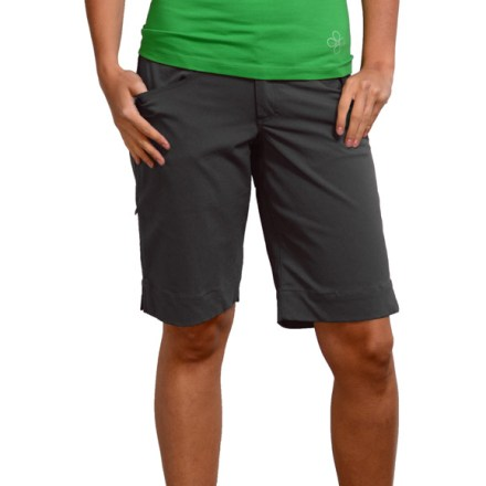 Fitness With soft stretchy fabric, the blurr Athena shorts will move at your pace whether your weekend plans call for climbing, hiking, cycling (or all three). Stretch nylon fabric feels soft next to skin and dries quickly. Gusseted crotch and articulated knees ensure full range of motion. Overstock. - $31.73