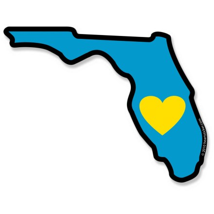 Entertainment Celebrate your love for the Sunshine State with the Heartsticker.com Heart in Florida sticker. - $4.00
