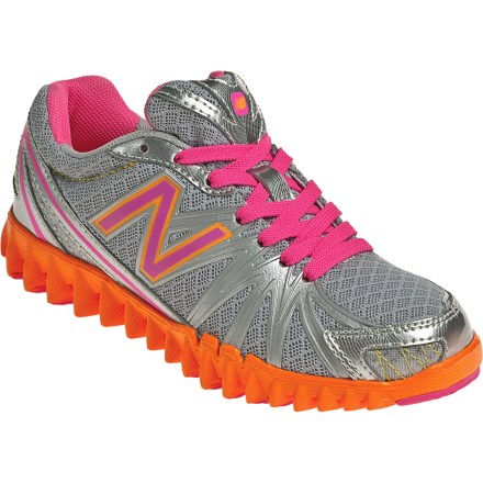 Fitness With copious amounts of cushion and a fun, sporty design, the New Balance K2750 NB Groove running shoes for girls are ready to run. Nylon mesh uppers feature lightweight synthetic textile overlays for support. Breathable polyester and nylon linings wick moisture away from feet for all-day comfort. EVA midsoles absorb shock, cushion feet and provide gentle support. Supercool rubber outsoles on the New Balance K2750 NB Groove running shoes securely grip varied surfaces. - $27.83