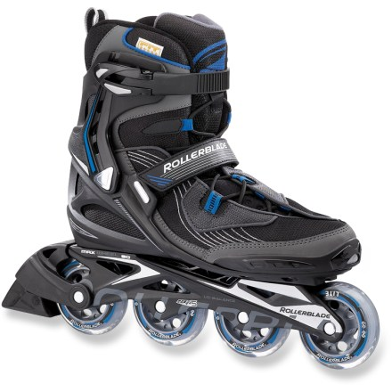 Skateboard You'll easily transition from a workout to cruising with friends in the Rollerblade Spark 80 inline skates. They have a composite frame and anatomic liner for stability and support at any speed. - $76.73