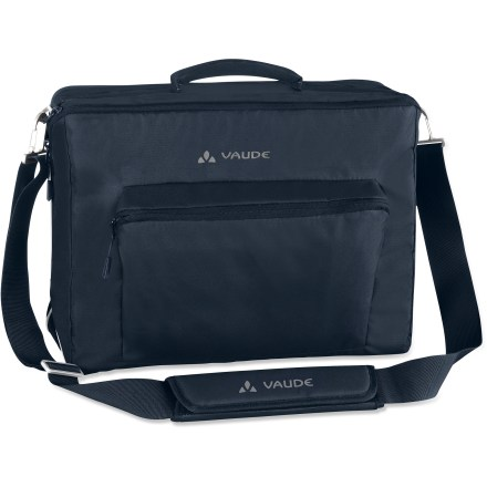 Fitness Hate moving all your gear from your bike bag to briefcase? The VAUDE Huntington Office bike bag does double duty as a gear-hauling bike bag and a briefcase that's at home in the office. - $38.73