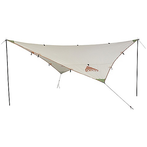 Free Shipping. Kelty Noah's Tarp DECENT FEATURES of the Kelty Noah's Tarp Taped seams Guy out points Nite Ize Figure 9 guy line adjuster The SPECS Seasons: 3 Fly Material: 68D Polyester 450 mm The SPECS for 9 Minimum Weight: 1 lb 7 oz / 0.7 kg Packaged Weight: 1 lb 13 oz / 0.8 kg Floor Area: 81 square feet / 7.5 square meter Dimension: (L x W x H): 122 x 122in. / 310 x 310 cm Packed Dimension: 5 x 23in. / 13 x 58 cm The SPECS for 12 Minimum Weight: 2 lbs 1 oz / 0.9 kg Packaged Weight: 2 lbs 8 oz / 1.1 kg Floor Area: 144 square feet / 13.4 square meter Dimension: (L x W x H): 145 x 145in. / 368 x 368 cm Packed Dimension: 5 x 23in. / 13 x 58 cm The SPECS for 16 Minimum Weight: 4 lbs 2 oz / 1.9 kg Packaged Weight: 4 lbs 11 oz / 2.1 kg Floor Area: 256 square feet / 23.8 square meter Dimension: (L x W x H): 192 x 192in. / 488 x 488 cm Packed Dimension: 7 x 25in. / 18 x 64 cm - $59.95