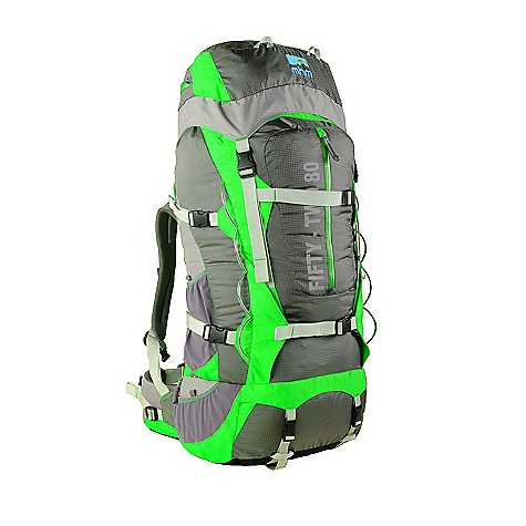 Free Shipping. MHM Fifty-Two 80L Pack DECENT FEATURES of the Mile High Mountaineering Fifty-Two 80L Pack sYnc A.C. suspension Air Channeled mesh backpanel Slide n' lock adjustable harness VariCant dualpivoting/fully adjustable hipbelt ,li>Backhugger ICS QuickStuff Pack Sack Integrated Packslicker rainfly Deployable accessory pocket Top and front panel access External compression straps Easy access hydration sleeve under the top lid Large center zip external pocket with internal divider 8 gear loops 12 pockets + main compartment QuickClip accessory clips 2 adjustable ice axe loops The SPECS Volume: 80+10 liters Weight: 5 lbs 5 oz Fits Torso: 17-22 in. Number of Stays: 2 Main Pack fabric: 315 denier ripstop Invista CORDURA(R) Plus, Nylon 6.6, 80g PU/DWR. Bottom Fabric: 840 denier Invista CORDURA(R) HD, Nylon 6.6, 80g PU/DWR. POP color: 210 denier mini diamond, Nylon 6.0, 40g PU/DWR. Frame Material: 3mm x 20mm & 3mm x 25mm 6061 tempered aluminum stays and 1.5mm HDPE framesheet - $398.95