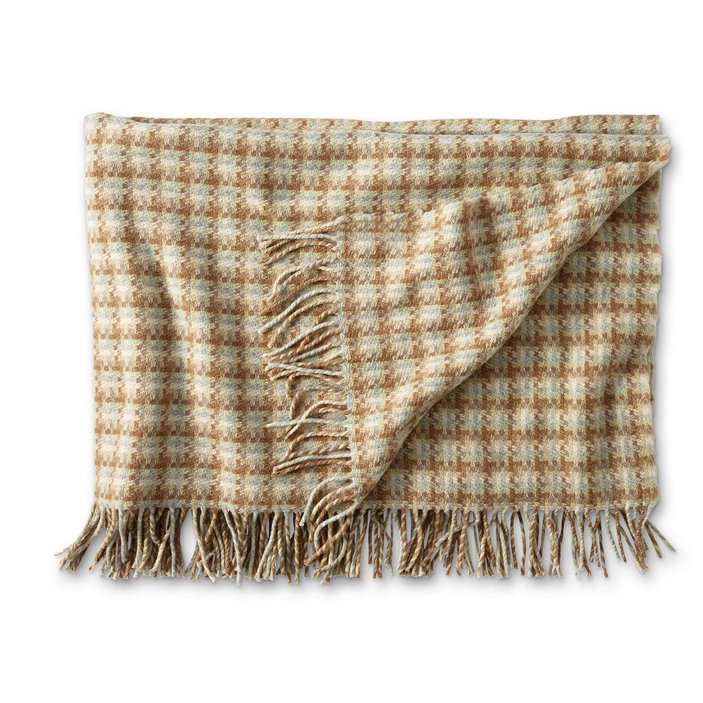 Entertainment Eddie Bauer Whittier Fringed Throw - Elevate the look and comfort of your home with this throw, made from supersoft lambs' wool, and designed with distinctive basket weave construction. Imported. - $34.99