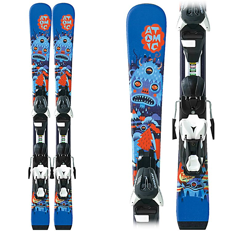 Ski Atomic Rascal II Kids Skis with XTE 045 Bindings - Beginner performance for the slightly older or bigger junior skier is who the Atomic Rascal II Skis are for. A simple but well designed Cap Fiber construction means the Rascal II flexes exactly where and how a young skier needs the ski to flex. This makes them easy to slide and smear around when just starting off on the bunny hill to build confidence and allows the skis to be smooth and easy on edge once your child hits the point where they are starting to carve turns with parallel skis. To help keep the Atomic Rascal II smooth and forgiving a composite core makes the ski very light while also helping it to be easy turning. Get your little ones out on the slopes in style and help boost their skills and their confidence with the Atomic Rascal II Skis. . Tip/Waist/Tail Widths: 100.5/65/84mm (@ 100cm), Actual Turn Radius @ Specified Length: 7m (@ 100cm), Warranty: One Year, What Binding is Included?: XTE 045, Construction Type: Cap, Core Material: Composite, Base Material: Extruded, Tail Profile: Flat, Special Features: Cap Fiber Construction, Special Features: EasyTrak Chassis, Bindings Included: Yes, Binding DIN: 0.5-4.5, Rocker: Tip Rocker/Camber, Binding Weight Range: Not Specified, Used: No, Titanium: No, Turn Radius: - $179.89
