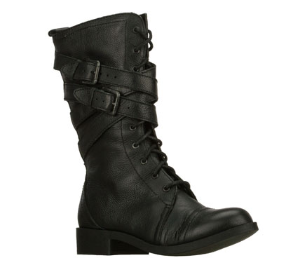 Buckle up for a stylish and versatile ride with the SKECHERS Hard Wear - Strapped In boot.  Smooth full grain leather or soft suede upper in a mid calf height lace up side zip dress casual boot with strap and buckle detail. - $79.00