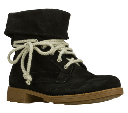 Get some classic style with a stylish twist in the SKECHERS Leverages - Reputation boot.  Soft suede upper in a slip on ankle height dress casual boot with laced front panel; stitching and overlay accents. - $80.00