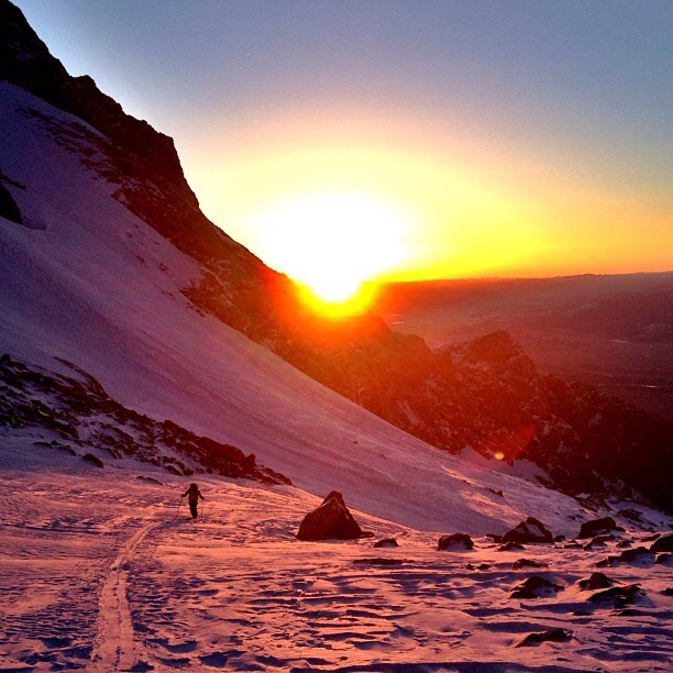 Ski Sunrise in Grand Teton National Park. | PC: Backcountry Athlete Griff Post