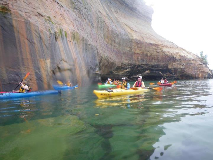Kayak and Canoe Awesome sea kayaking trips at the Pictured Rocks!!!! Great Family Fun!! All ages and all skill levels. Double kayaks Website: www.paddlingmichigan.com