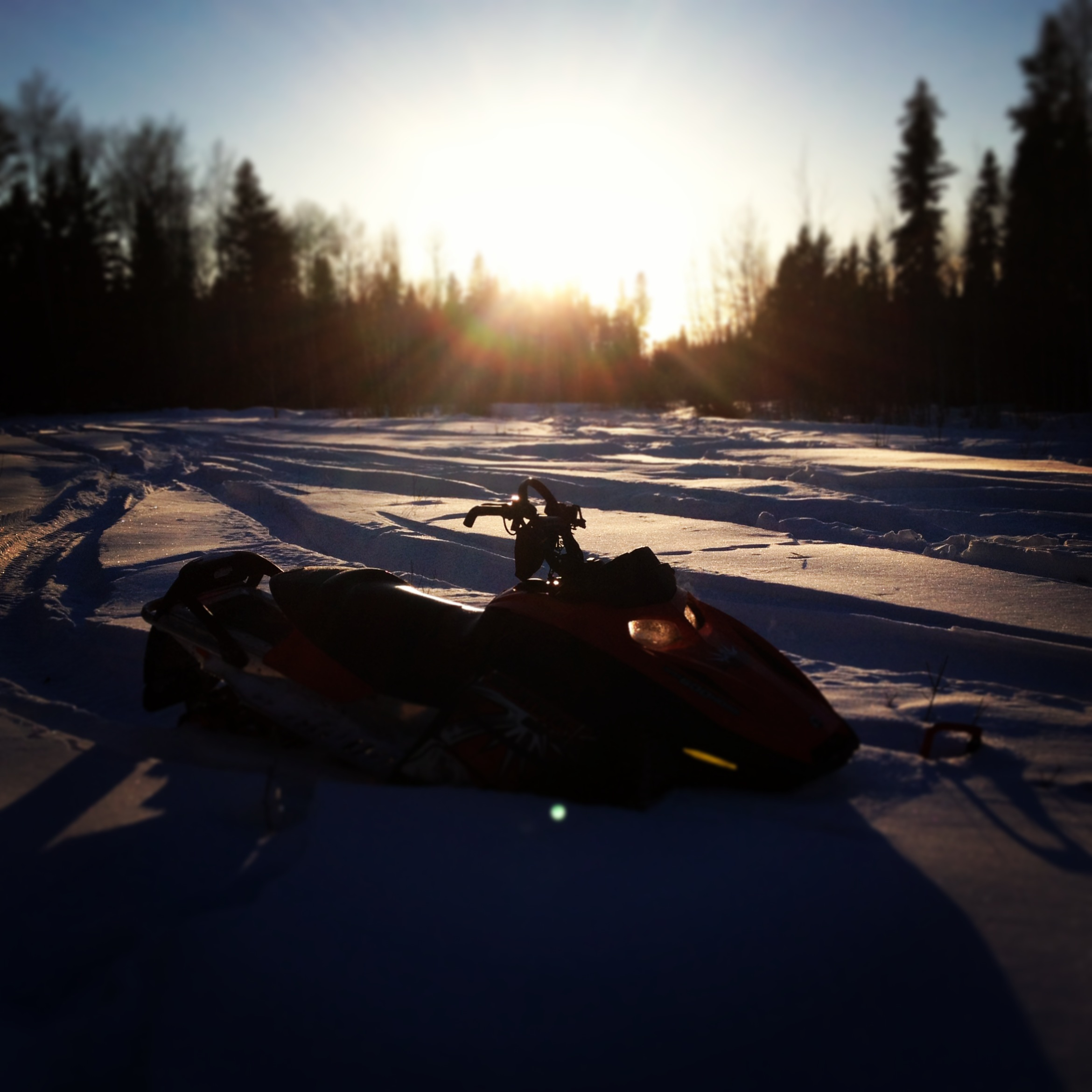 Snowmobile amazing day