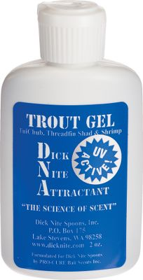 Dick Nite Attractant is a gel scent thats hard for fish to resist. The thick gel adheres to both hard baits and soft baits, adding scent properties without affecting their action. Made of all-natural ingredients. Size: 2-oz. bottle. Available: Trout - Made of tui chub, threadfin shad, shrimp. Kokanee - Made of corn, shrimp, krill, anise. Type: Lipless Baits. - $8.49