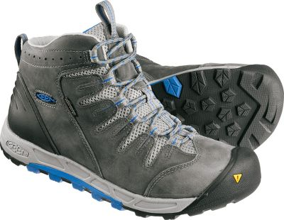 Camp and Hike Stay light on your feet during on- and off-trail excursions with Keen Mid Bryce Waterproof Hikers. Waterproof nubuck uppers and Keen.Dry waterproof, breathable membranes block out external moisture. Removable metatomical EVA footbeds with the added cushioned comfort of Keen.Zorb absorb shock and rebound into the next step. TPU stability shanks give your feet the security needed to tackle a wide range of terrain types. Dual-density compression-molded EVAmidsoles. Nonmarking rubber outsoles for traction. Imported.Average weight: 2.3 lbs./pair.Mens sizes: 7-15 medium width. Half sizes to 12.Color: Gargoyle. - $49.99