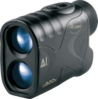 Compact and affordable, its continuous scan mode lets you pan its beam across the landscape and range multiple targets with a single activation. The R900X has a whopping 900-yard maximum range and an angle-computing feature. Easy-to-see LCD features an easy-to-see reticle, text and icons for exact range, battery level, ranging mode and unit of measure (yards or meters). The rugged, ergonomic body is water-resistant for lasting in-the-field durability. Wide, 7 view angle. Bright, 24mm objective lens. Fog-resistant 15.5mm eyepiece. Includes carry case, CR-2 lithium battery, lanyard, lens cloth and manual. One-year warranty.Dimensions: 4.2 x 3 x 1.7. - $139.88