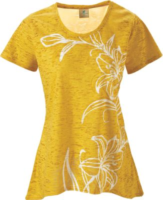 Entertainment Light and airy, Caribbean Joes Burnout Slub Jersey Shirt is a perfect match for your summer ensemble. Crafted of 60/40 cotton/polyester with a warm-weather flower print. Imported.Center back length: 24-1/2.Sizes: S-XL.Colors: Bashful Green, Frenchie, Passion Fruit, Straw Yellow. - $19.88